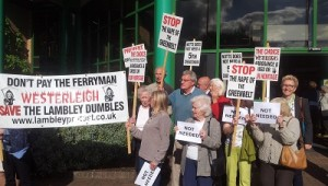 Protesters turned out in force to oppose the crematorium